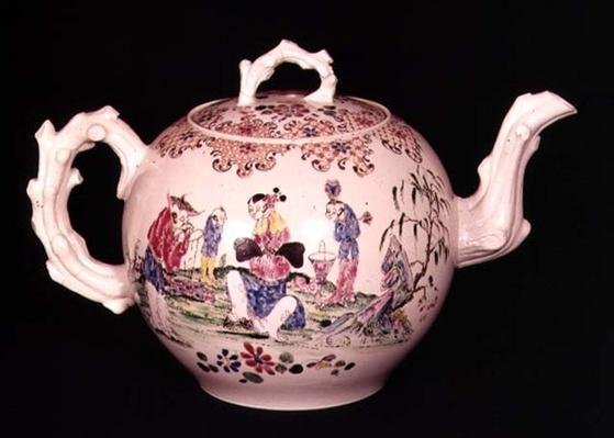 Staffordshire punch pot, c.1755
