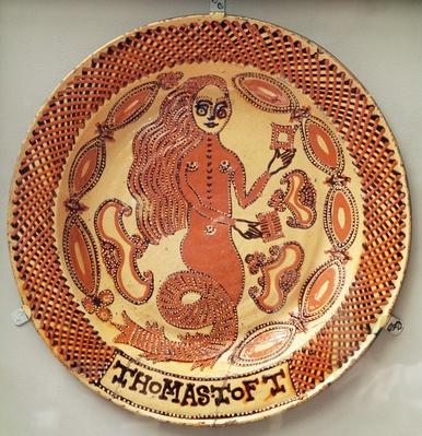 The Mermaid Dish, Staffordshire, c.1670-89