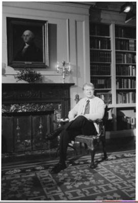 President Carter during a Fireside Chat