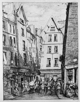 The Rue Pirouette, 1860