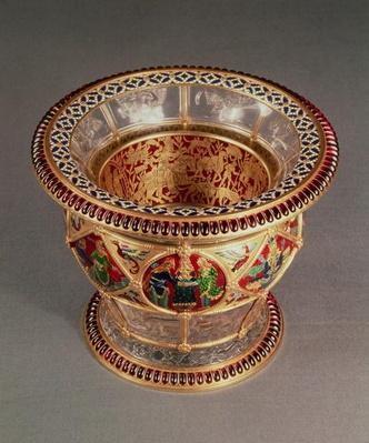 Box with plique-a-jour and cloisonne enamelling, by Alexis Falize, Paris, c.1870