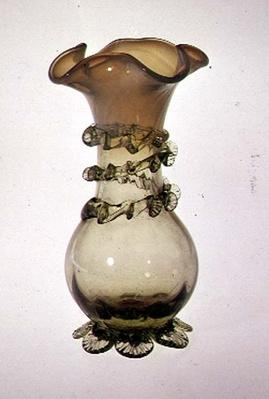 Vase with applied & pincered decoration, late 19th century
