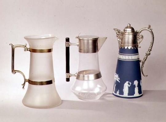 Three claret jugs