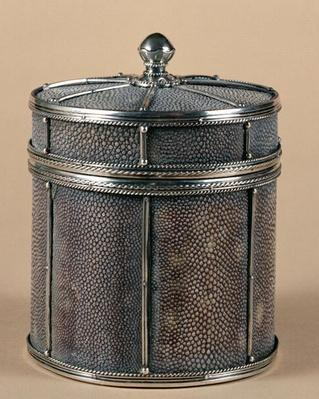 Cigarette box with shagreen sides, 1928