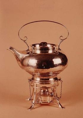 Kettle and spirit burner, made by Birmingham Guild of Handicraft, c.1905-10