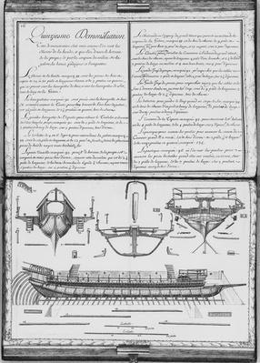 Construction of a galley with the prow and the stern