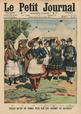Those who are no more on the battlefields, front cover illustration from 'Le Petit Journal', supplement illustre, 22nd March 1914