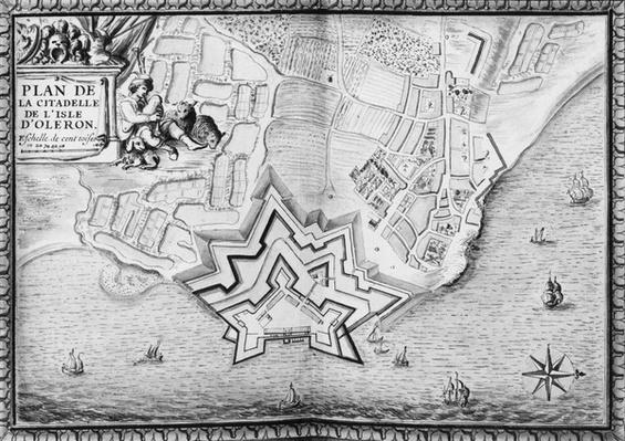 Ms 4418 T II carte 16, Plan of the Citadel of l'Isle d'Oleron, Recueil des Plans des Places de France,  1676