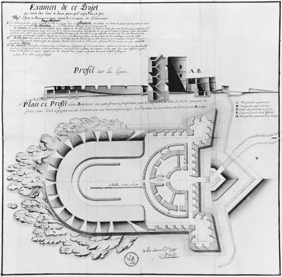 Project of a Fort on the Ile Cigogne, Archipel des Glenan, 1745