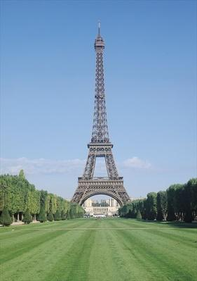 The Eiffel Tower, view towards the Palais de Chaillot, constructed 1887-89