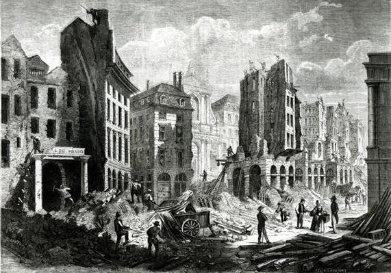 Construction of the Boulevard de Sebastopol