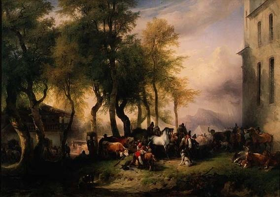 Cattlemarket on Maria Plain, 1837