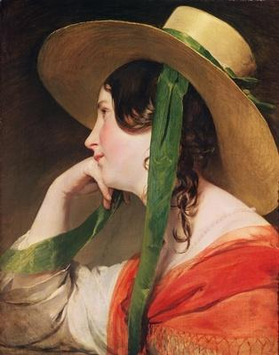 Girl in a Yellow Straw Hat,