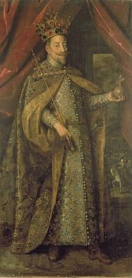 Emperor Matthias of Austria in Bohemian Coronation Robes, c.1613
