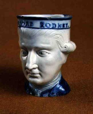 Mask head mug of Lord Rodney, c.1782
