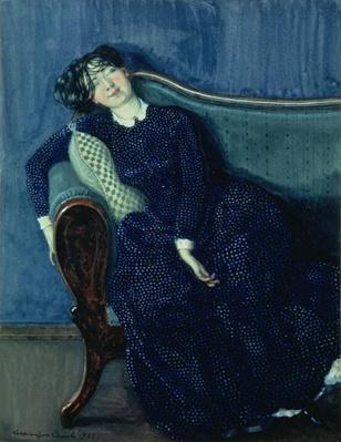 Sleeping woman in blue, 1903