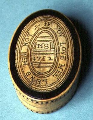 Tobacco box, 1712
