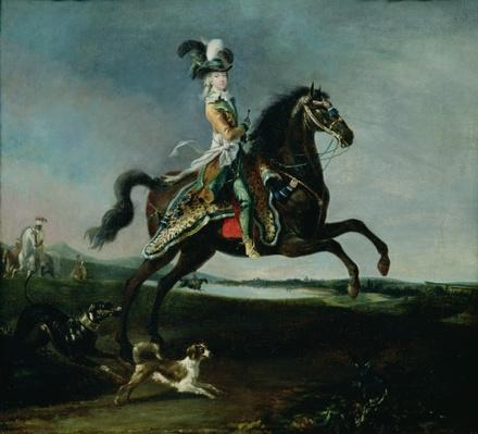 Equestrian Portrait of Marie-Antoinette