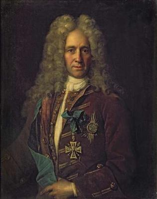 Portrait of State Chancellor Count G. Golovkin, 1720