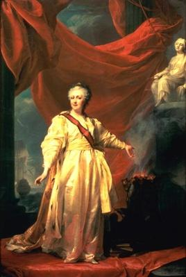 Portrait of Catherine the Great as Lawgiver in the Temple of the Goddess of Justice, early 1780s