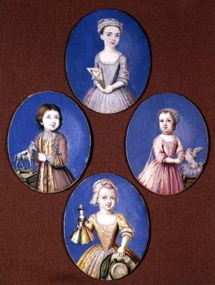 Miniature of the Four Whitmore Children