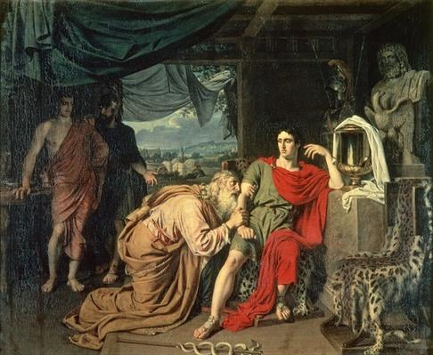 King Priam begging Achilles for the return of Hector's body, 1824