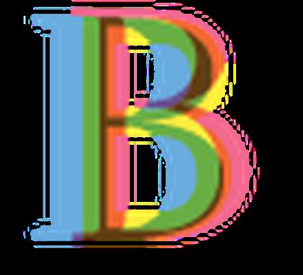 Four-Color Alphabet Letters - B | Clipart