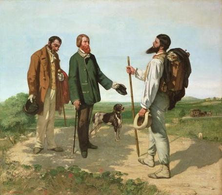 La Rencontre, or Bonjour Monsieur Courbet, 1854