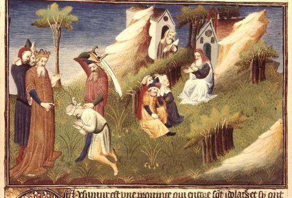 Ms Fr 2810 f.19v An execution in Afghanistan