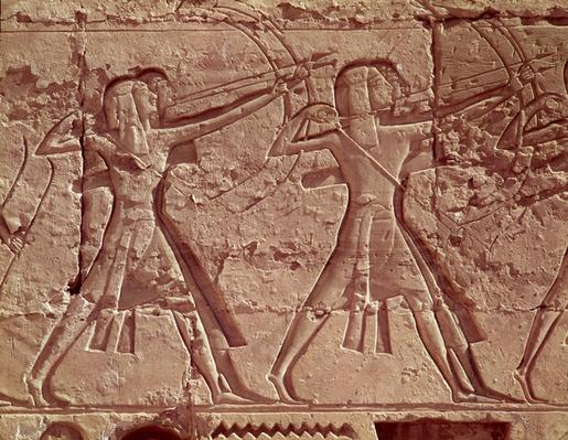 Archers, detail from the hunt of Ramesses III