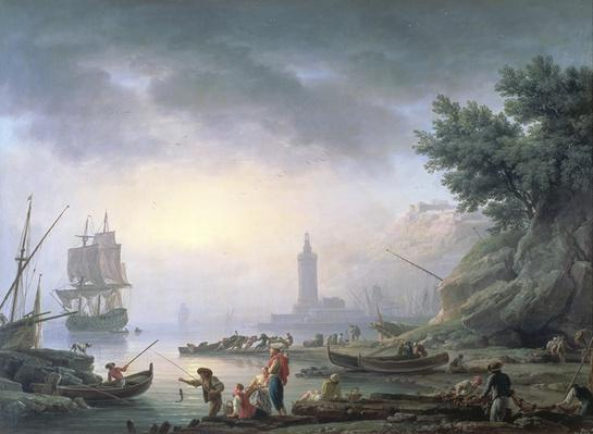Seaport at Dawn, 1751