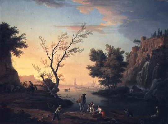 Seaport at Sunset, 1751