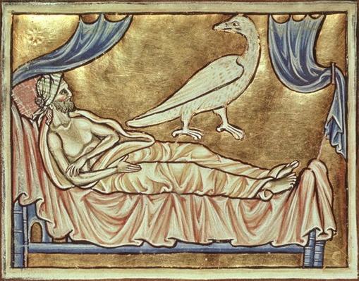 Roy 12 C XIX f.47v Caladrius bird