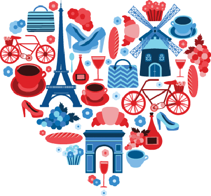 Love Paris Heart Symbol | Clipart