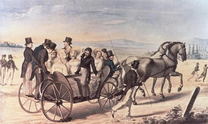 Excursion of the Schubertians from Atzenbrugg to Aumuhl, with Franz Peter Schubert