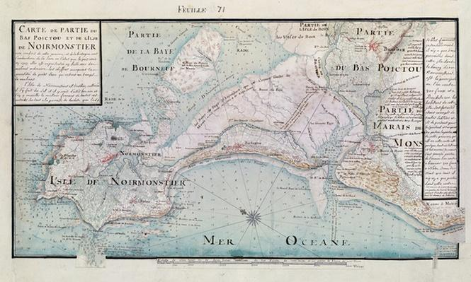 Atlas 131 H.fol 71 Map of part of Bas-Poitou and the Ile de Noirmoutier, 1703