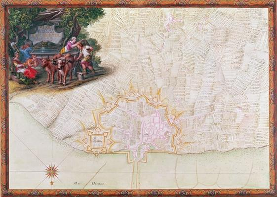 Ms. 988, Tome 3, fol. 39 Map of the town and citadel of Saint-Martin, Ile de R�, from the 'Atlas Louis XIV', 1683-88