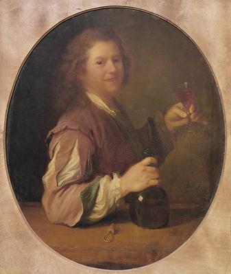 Self portrait of the artist drinking, 1724