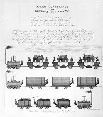 Steam Conveyance on a General Iron-Railway, 1825