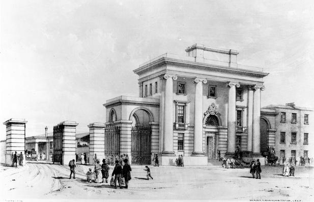 Entrance to Birmingham Station, 1838