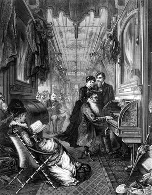 Sunday on the Union Pacific Railway, 1875