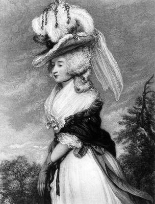 Lady Letitia Lade, mezzotint by Frederick Bromley, c.1785