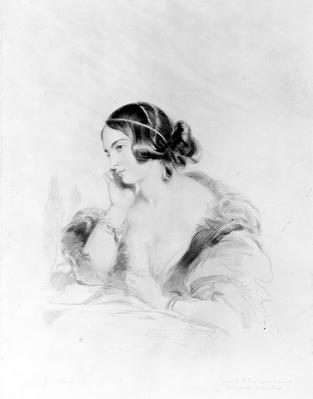 Caroline Norton, engraved by Frederick Christian Lewis, 1838