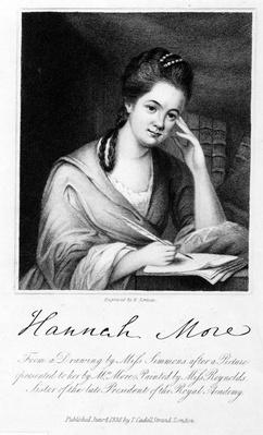 Hannah More, engraved by Edward Scriven, 1838