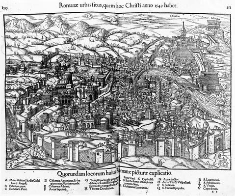 View of Rome, from Cosmographia Universalis, edition of 1550