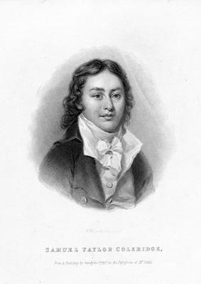 Samuel Taylor Coleridge, engraved by Richard Woodman