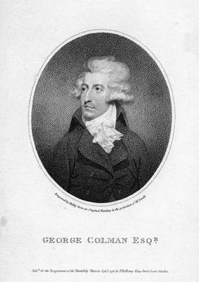 George Colman the Younger, engraved by William Ridley, 1797