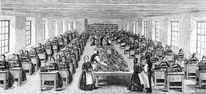 The Machine-room at Somervell Brothers, Netherfield, Kendal, illustration from 'Exhibition London 1862 - Illustrated Catalogue', 1862