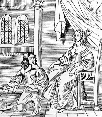 A Seventeenth-Century Shoemaker Fitting a Distinguished Customer, illustration from 'Book of Craftsmen' by Marjory Bruce, published 1937
