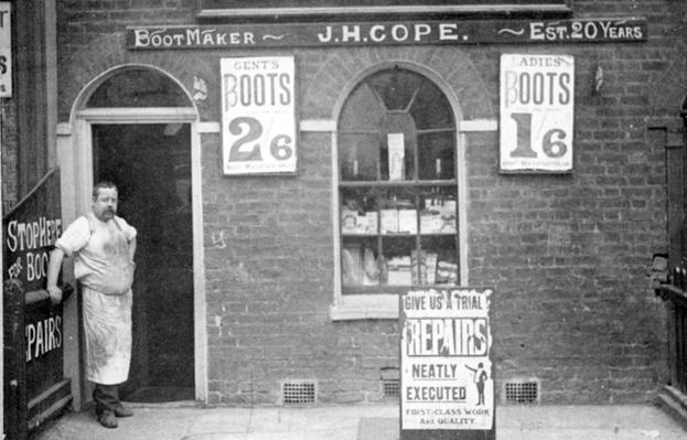 Bootmaker J. H. Cope, late C19th